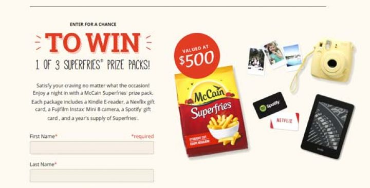 mccain superfries contest