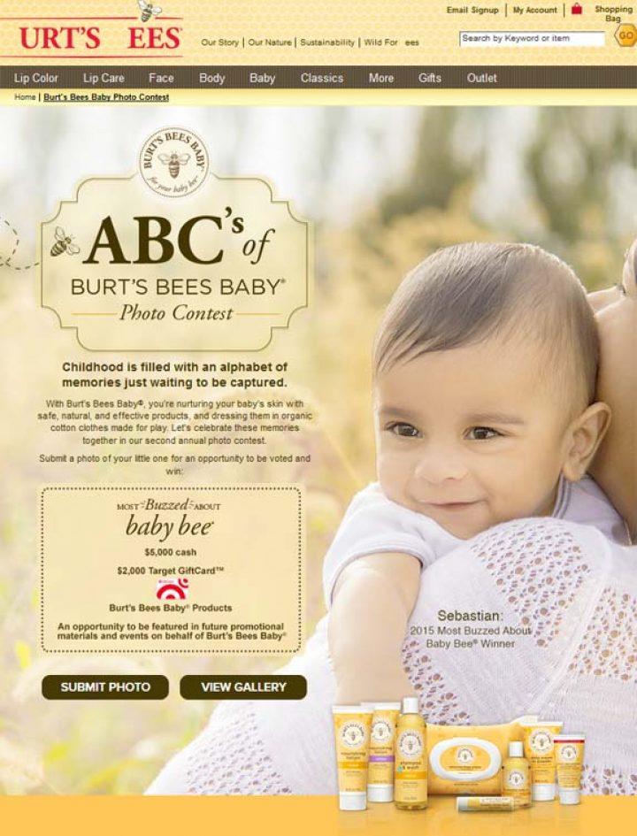 abc of burt bee baby