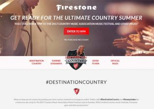 Firestone Destination Country Sweepstakes