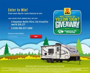 KOA What's Behind the Yellow Sign Giveaway