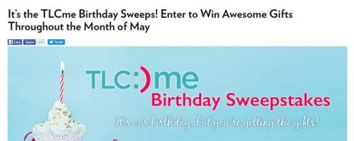 tlcme birthday sweepstakes