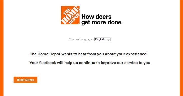 Home Depot Survey Customer Satisfaction Sweepstakes