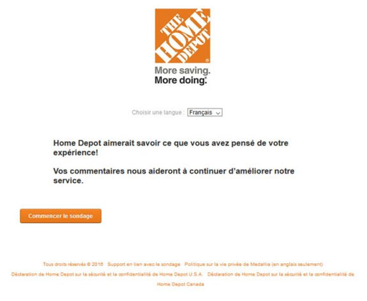 homedepot survey 1