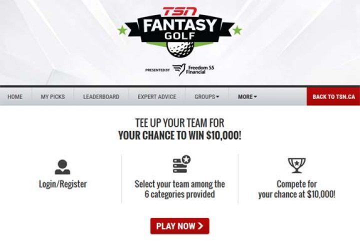 tsn fantasy golf