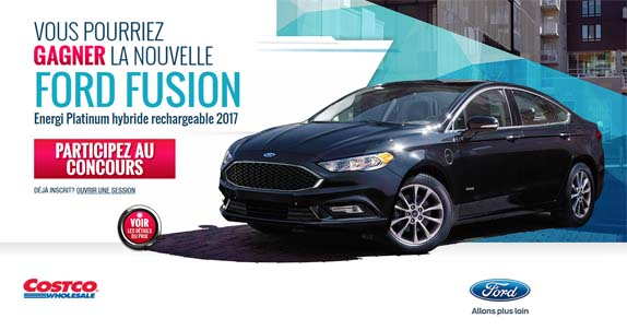 Concours Costco Vous pourriez gagner une Ford Fusion 2017