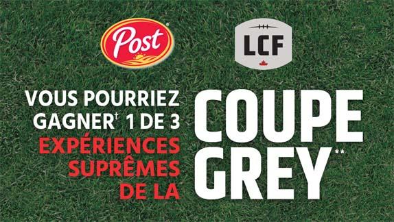 Concours Expérience suprême de la Coupe Grey de Post et la LCF