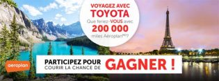 Concours Voyagez avec Toyota