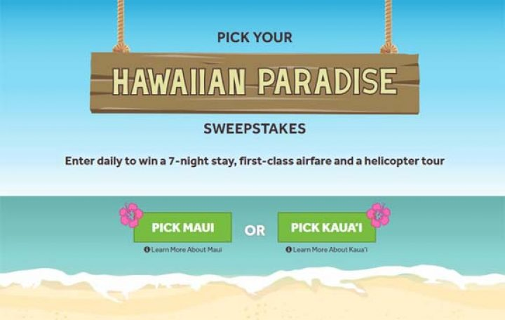 hawaiian paradise contest