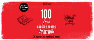 IGA 100 free grocery orders to be won Contest
