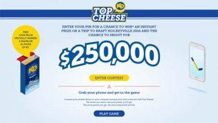 Kraft Dinner Top Cheese Contest
