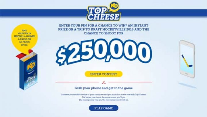 kraft dinner top cheese contest