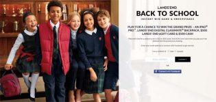 Lands' End Back to School Sweeps