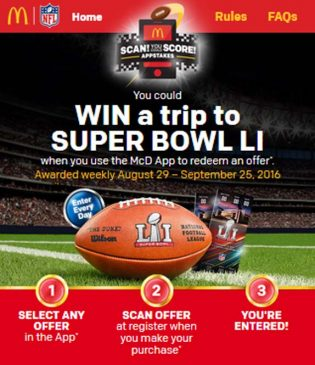 McDonald's Scan! You Could Score! Appstakes Sweepstakes
