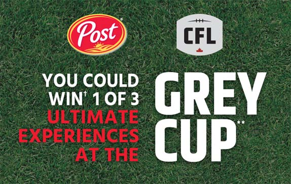 Post & CFL Ultimate Grey Cup Experience Contest