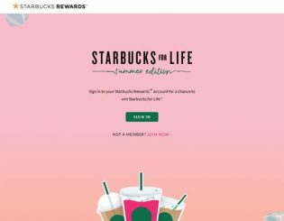 Starbucks for Life: Summer Edition Promotion