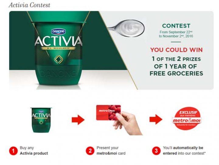 activia metro contest