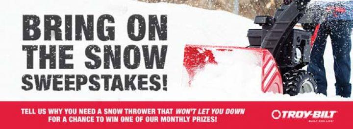 bring on thw snow