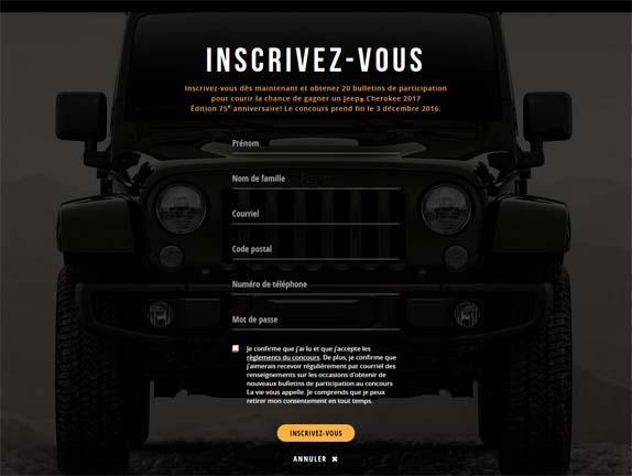 Concours La vie vous appelle avec Jeep