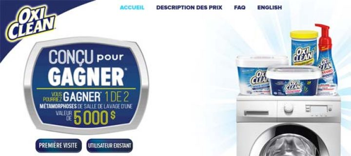 oxiclean concu pour gagner