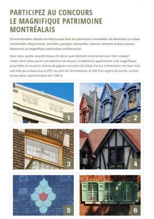 Concours Le magnifique patrimoine montréalais