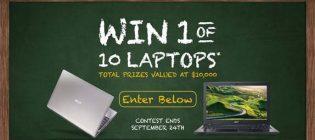 win a laptop contest