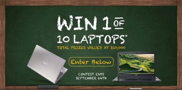 win a laptop contest