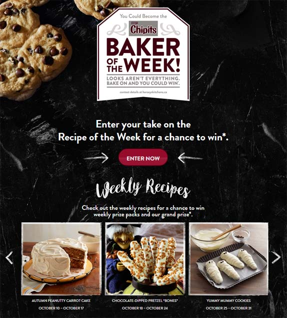 Hershey's CHIPITS Baker of the Week Sweepstakes