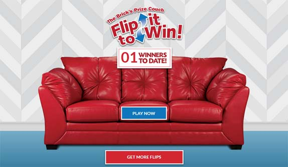 Brick's Prize Couch Flip It To Win Contest