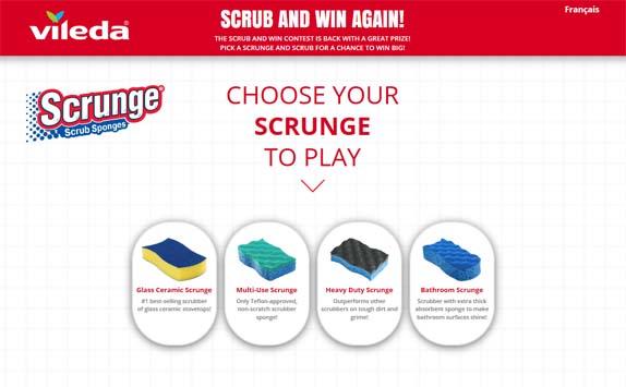 Scrunge Scrub and Win with Vileda Contest