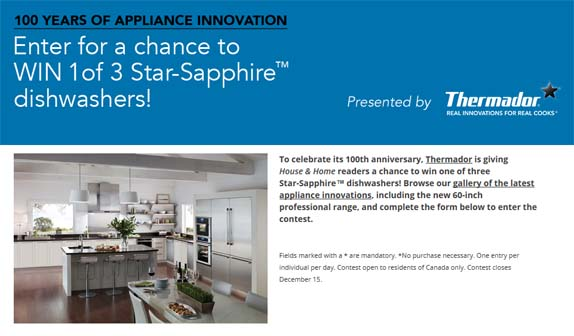 Thermador 100 Years Of Appliance Innovation Contest With House & Home