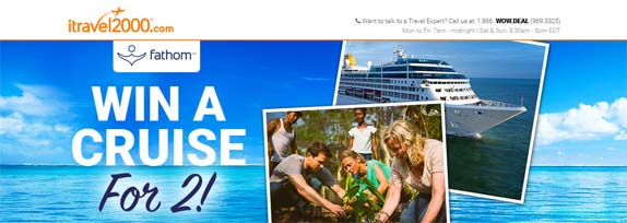 iTravel2000.com Win a Cruise for 2! Giveaway