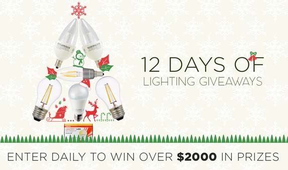 A Bright Holiday Season: 12 Days of Lighting Giveaways