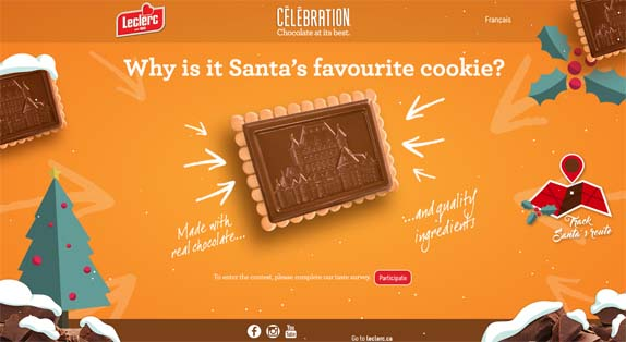 Biscuits Leclerc Contest Why is it Santa's favourite cookie?