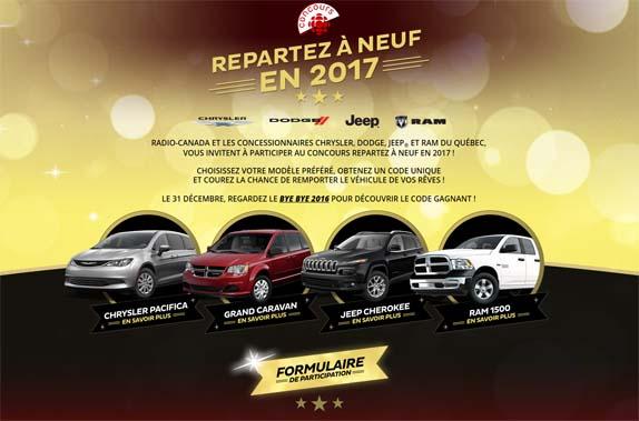 Concours Repartez à neuf en 2017!