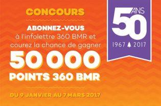 Concours Inscription à l'infolettre 360 BMR