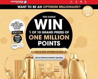 Shoppers Optimum Pharmaprix Optimum Millionaire Contest