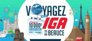 Concours Voyagez avec les IGA de la Beauce