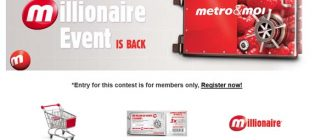 metro millionaire contest