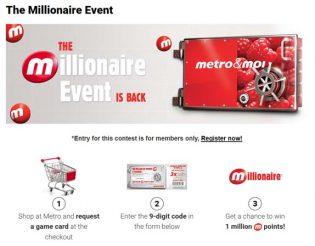 Metro Millionaire Event Contest
