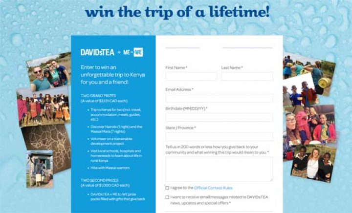 trip of a lifetime contest