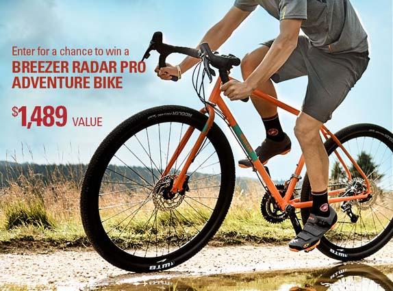Performance Bicycle Breezer Radar Pro Adventure Bike Giveaway