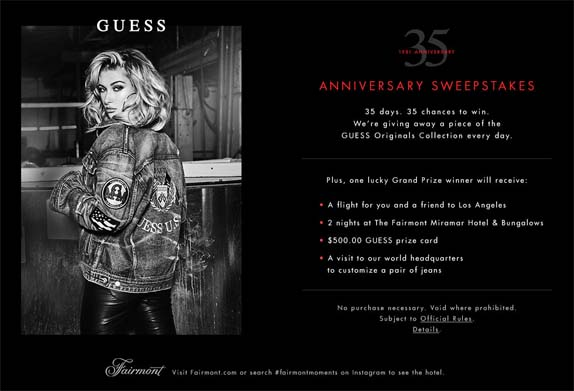 GUESS 35th Anniversary Sweepstakes