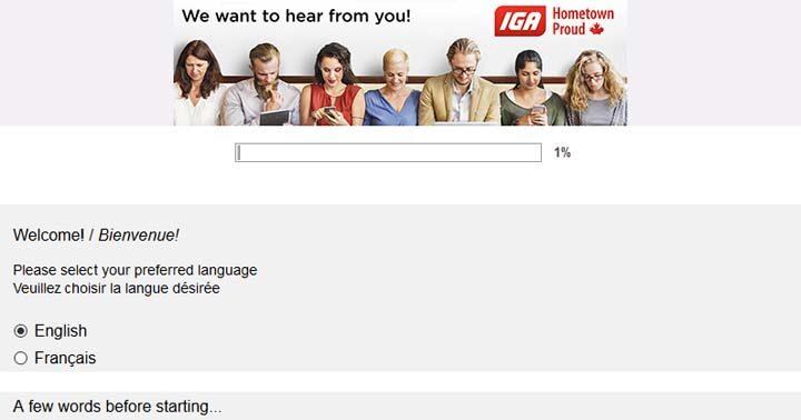 IGA Customer Experience Survey Contest