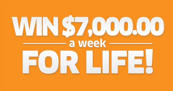 NBC Win $7,000.00 A Week For Life Sweepstakes
