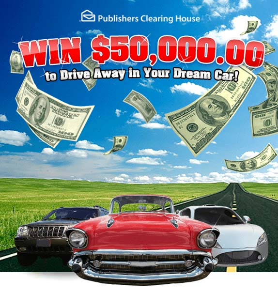 PCH Win $50,000.00 to Drive Away in Your Dream Car Giveaway