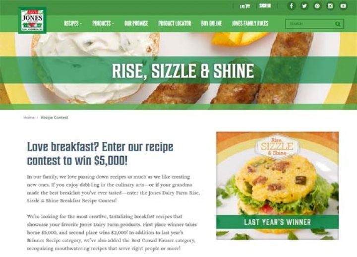 rise sizzle shine contest
