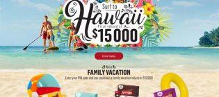 sara lee surf to hawaii contest
