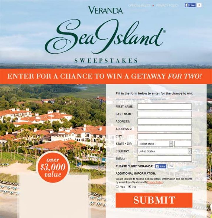 sea island sweepstakes