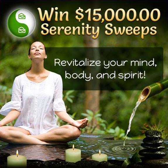 PCH Win $15,000.00 Serenity Sweepstakes