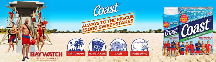 Coast Soap $5,000 Always to the Rescue Sweepstakes